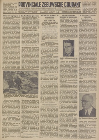 Provinciale Zeeuwse Courant 1942-10-26
