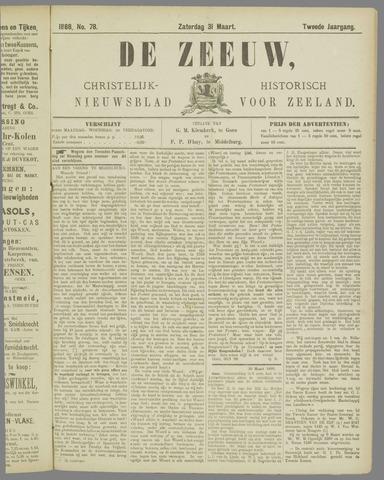 De Zeeuw. Christelijk-historisch nieuwsblad voor Zeeland 1888-03-31