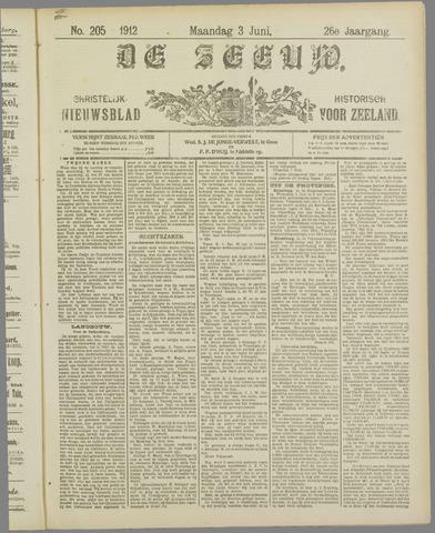 De Zeeuw. Christelijk-historisch nieuwsblad voor Zeeland 1912-06-03