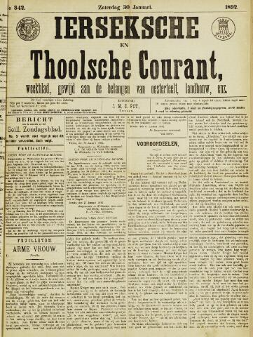 Ierseksche en Thoolsche Courant 1892-01-30