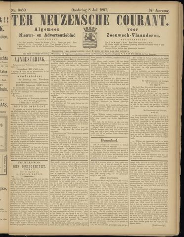 Ter Neuzensche Courant. Algemeen Nieuws- en Advertentieblad voor Zeeuwsch-Vlaanderen / Neuzensche Courant ... (idem) / (Algemeen) nieuws en advertentieblad voor Zeeuwsch-Vlaanderen 1897-07-08