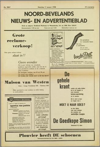 Noord-Bevelands Nieuws- en advertentieblad 1958-01-11