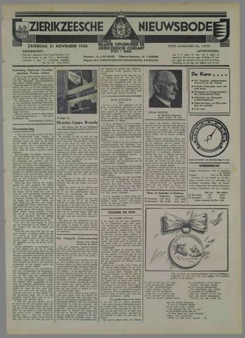 Zierikzeesche Nieuwsbode 1936-11-21