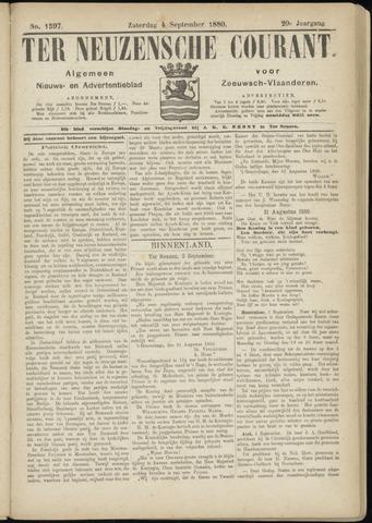 Ter Neuzensche Courant. Algemeen Nieuws- en Advertentieblad voor Zeeuwsch-Vlaanderen / Neuzensche Courant ... (idem) / (Algemeen) nieuws en advertentieblad voor Zeeuwsch-Vlaanderen 1880-09-04