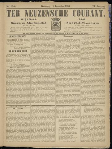 Ter Neuzensche Courant. Algemeen Nieuws- en Advertentieblad voor Zeeuwsch-Vlaanderen / Neuzensche Courant ... (idem) / (Algemeen) nieuws en advertentieblad voor Zeeuwsch-Vlaanderen 1883-12-19
