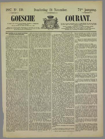 Goessche Courant 1887-11-24