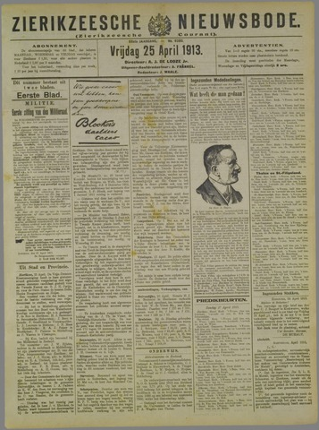 Zierikzeesche Nieuwsbode 1913-04-25