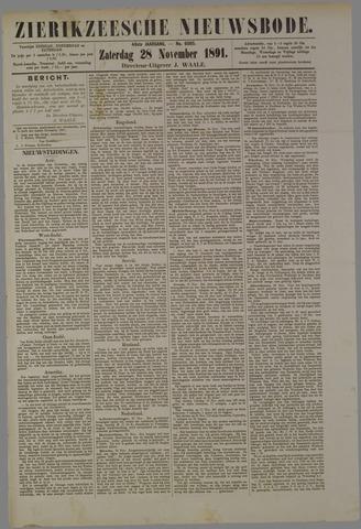 Zierikzeesche Nieuwsbode 1891-11-28