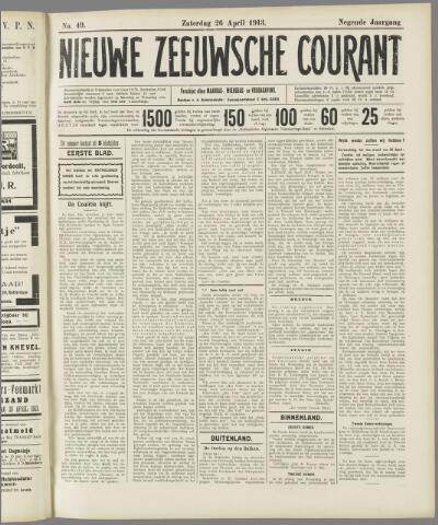 Nieuwe Zeeuwsche Courant 1913-04-26