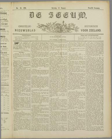 De Zeeuw. Christelijk-historisch nieuwsblad voor Zeeland 1898-01-15