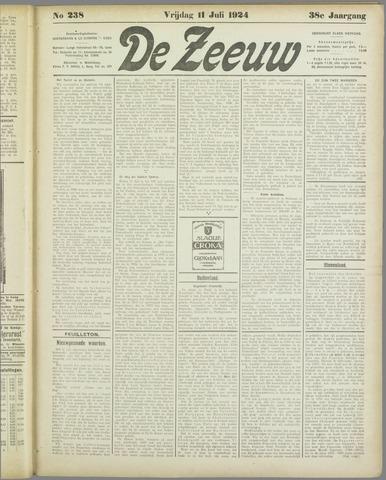 De Zeeuw. Christelijk-historisch nieuwsblad voor Zeeland 1924-07-11