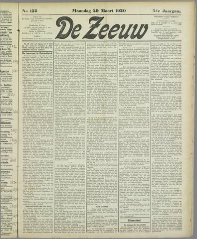 De Zeeuw. Christelijk-historisch nieuwsblad voor Zeeland 1920-03-29