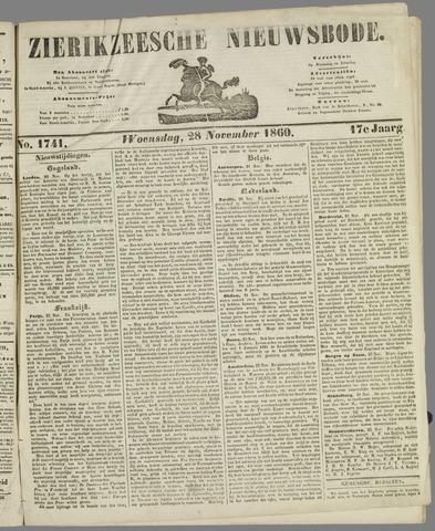 Zierikzeesche Nieuwsbode 1860-11-28
