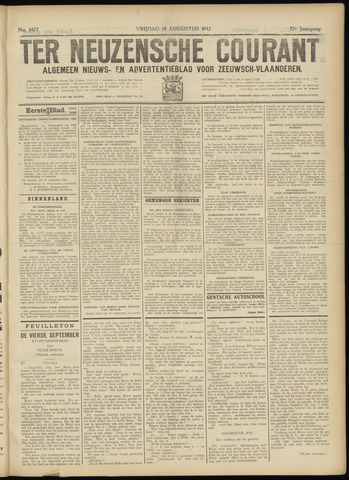 Ter Neuzensche Courant. Algemeen Nieuws- en Advertentieblad voor Zeeuwsch-Vlaanderen / Neuzensche Courant ... (idem) / (Algemeen) nieuws en advertentieblad voor Zeeuwsch-Vlaanderen 1932-08-19