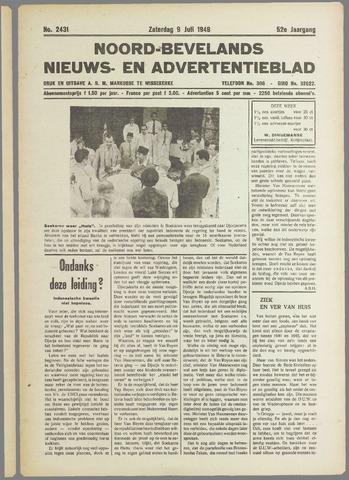 Noord-Bevelands Nieuws- en advertentieblad 1949-07-09