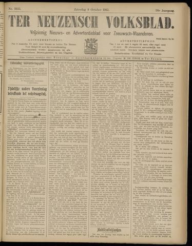 Ter Neuzensch Volksblad. Vrijzinnig nieuws- en advertentieblad voor Zeeuwsch- Vlaanderen / Zeeuwsch Nieuwsblad. Nieuws- en advertentieblad voor Zeeland 1915-10-09