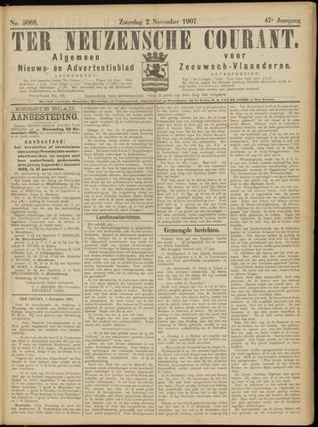 Ter Neuzensche Courant. Algemeen Nieuws- en Advertentieblad voor Zeeuwsch-Vlaanderen / Neuzensche Courant ... (idem) / (Algemeen) nieuws en advertentieblad voor Zeeuwsch-Vlaanderen 1907-11-02
