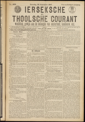 Ierseksche en Thoolsche Courant 1917-09-29