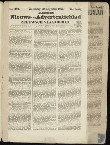 Ter Neuzensche Courant. Algemeen Nieuws- en Advertentieblad voor Zeeuwsch-Vlaanderen / Neuzensche Courant ... (idem) / (Algemeen) nieuws en advertentieblad voor Zeeuwsch-Vlaanderen 1866-08-29