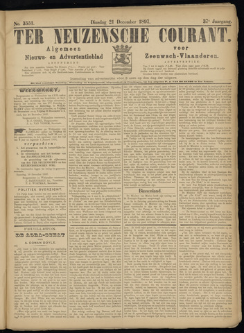 Ter Neuzensche Courant. Algemeen Nieuws- en Advertentieblad voor Zeeuwsch-Vlaanderen / Neuzensche Courant ... (idem) / (Algemeen) nieuws en advertentieblad voor Zeeuwsch-Vlaanderen 1897-12-21