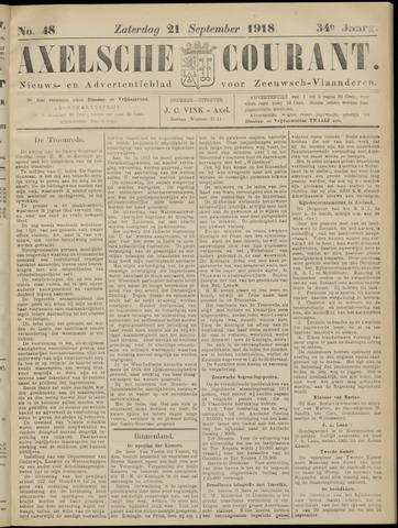 Axelsche Courant 1918-09-21