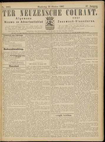 Ter Neuzensche Courant. Algemeen Nieuws- en Advertentieblad voor Zeeuwsch-Vlaanderen / Neuzensche Courant ... (idem) / (Algemeen) nieuws en advertentieblad voor Zeeuwsch-Vlaanderen 1907-10-31