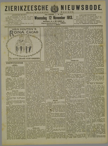Zierikzeesche Nieuwsbode 1913-11-12