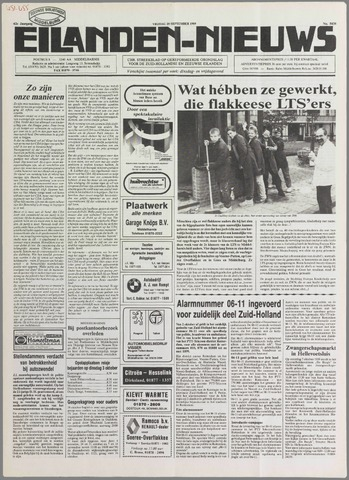 Eilanden-nieuws. Christelijk streekblad op gereformeerde grondslag 1989-09-29