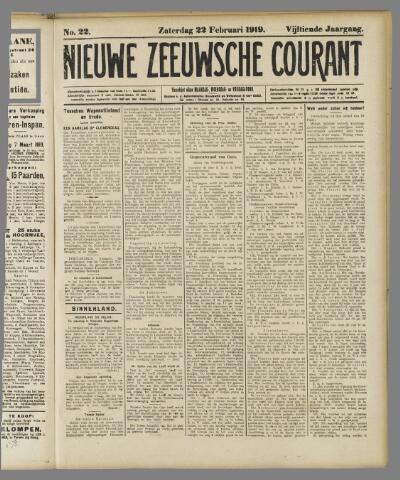 Nieuwe Zeeuwsche Courant 1919-02-22