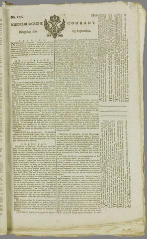 Middelburgsche Courant 1810-09-25