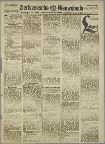 Zierikzeesche Nieuwsbode 1922-01-02