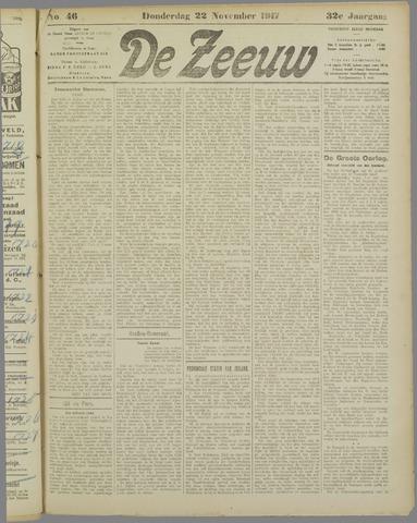 De Zeeuw. Christelijk-historisch nieuwsblad voor Zeeland 1917-11-22