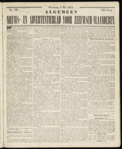 Ter Neuzensche Courant. Algemeen Nieuws- en Advertentieblad voor Zeeuwsch-Vlaanderen / Neuzensche Courant ... (idem) / (Algemeen) nieuws en advertentieblad voor Zeeuwsch-Vlaanderen 1872-05-08