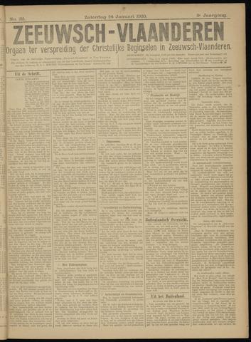 Luctor et Emergo. Antirevolutionair nieuws- en advertentieblad voor Zeeland / Zeeuwsch-Vlaanderen. Orgaan ter verspreiding van de christelijke beginselen in Zeeuwsch-Vlaanderen 1920-01-24