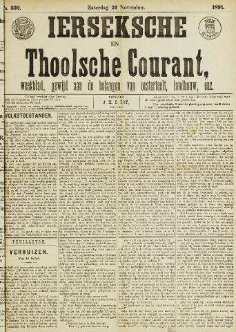 Ierseksche en Thoolsche Courant 1891-11-21