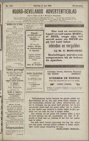 Noord-Bevelands Nieuws- en advertentieblad 1926-06-12