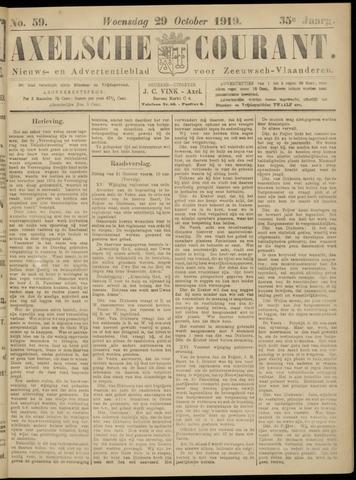Axelsche Courant 1919-10-29