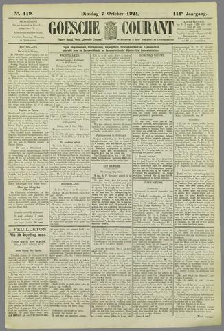 Goessche Courant 1924-10-07