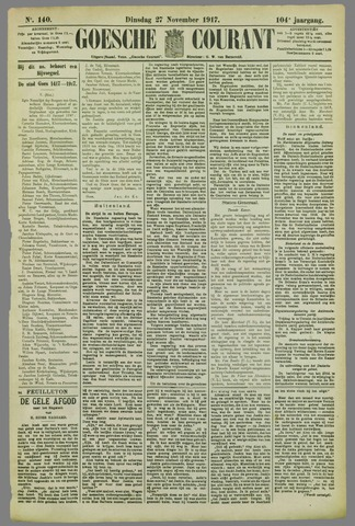 Goessche Courant 1917-11-27