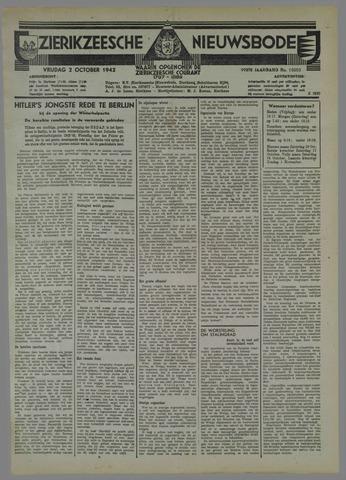 Zierikzeesche Nieuwsbode 1942-10-02