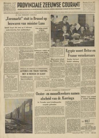 Provinciale Zeeuwse Courant 1957-01-28