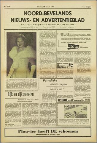 Noord-Bevelands Nieuws- en advertentieblad 1958-01-25