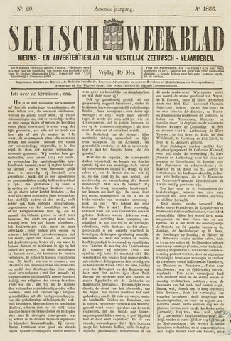 Sluisch Weekblad. Nieuws- en advertentieblad voor Westelijk Zeeuwsch-Vlaanderen 1866-05-18