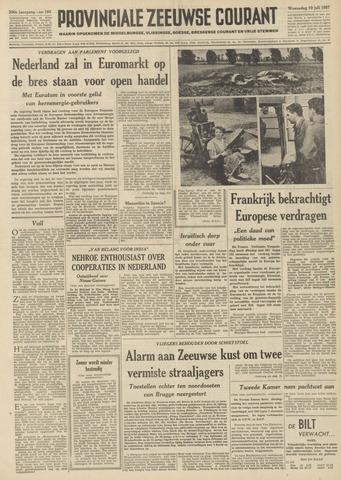 Provinciale Zeeuwse Courant 1957-07-10