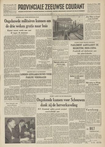 Provinciale Zeeuwse Courant 1954-12-21