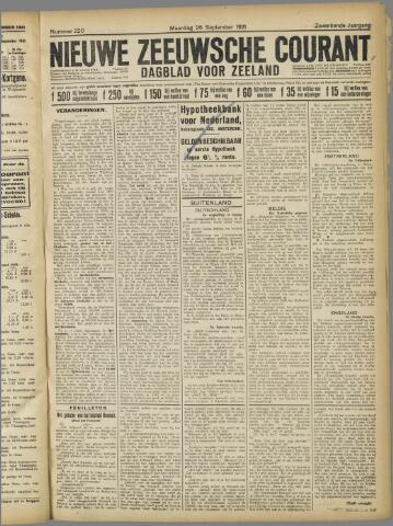 Nieuwe Zeeuwsche Courant 1921-09-26