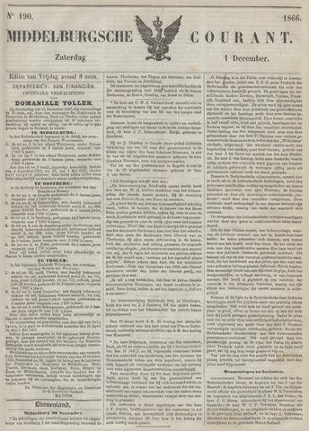 Middelburgsche Courant 1866-12-01