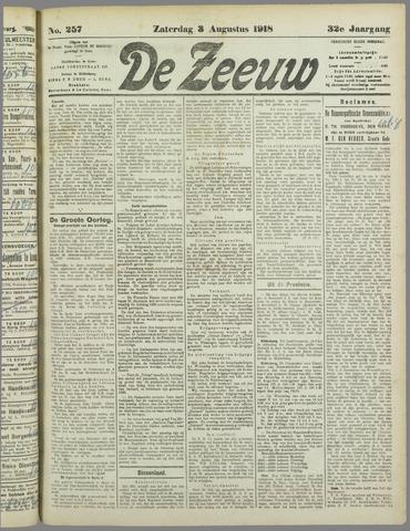 De Zeeuw. Christelijk-historisch nieuwsblad voor Zeeland 1918-08-03