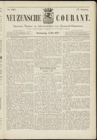 Ter Neuzensche Courant. Algemeen Nieuws- en Advertentieblad voor Zeeuwsch-Vlaanderen / Neuzensche Courant ... (idem) / (Algemeen) nieuws en advertentieblad voor Zeeuwsch-Vlaanderen 1877-05-02