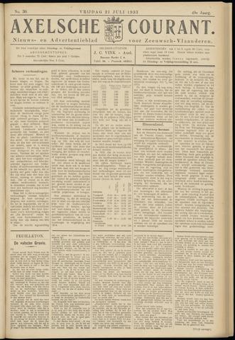 Axelsche Courant 1933-07-21